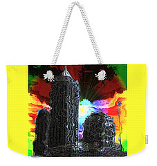 Weekender Tote Bag featuring the photograph Structural Dissonance by Iowan Stone-Flowers