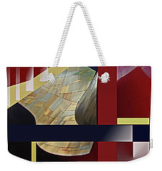Weekender Tote Bag featuring the digital art Structure 0217 by Walter Fahmy