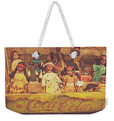 Weekender Tote Bag featuring the photograph Stuck In This Box With Nothing To Drink by Toni Hopper