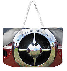 Weekender Tote Bag featuring the photograph Studebaker Chrome by Glenn Gordon