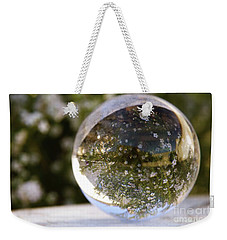 Weekender Tote Bag featuring the photograph Studies In Glass ...springtime by Lynn England