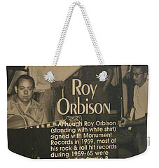 Studio B Roy Orbison  Weekender Tote Bag