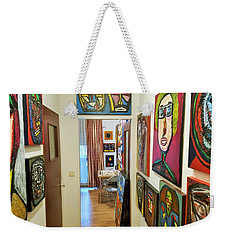 Studio Front And Lobby View Weekender Tote Bag