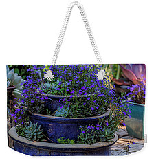 Study In Blue Weekender Tote Bag by David Cote