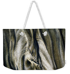 Weekender Tote Bag featuring the photograph Study In Brown Abstract Sands by Rikk Flohr