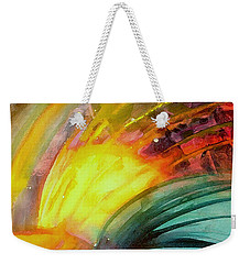 Weekender Tote Bag featuring the painting Study In Color by Allison Ashton