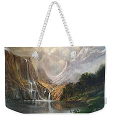 Weekender Tote Bag featuring the painting Study In Nature by Donna Tucker