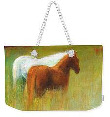 Study Of Two Ponies Weekender Tote Bag by Frances Marino