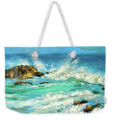 Weekender Tote Bag featuring the painting Study Wave by Dmitry Spiros