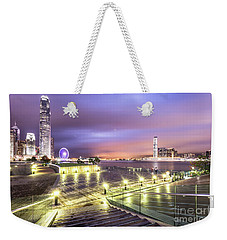 Stunning Night View Of The Famous Hong Kong Island Skyline And V Weekender Tote Bag