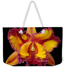 Weekender Tote Bag featuring the photograph Stunning Orchid Closeup by Sue Melvin