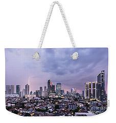 Stunning Sunset Over Jakarta, Indonesia Capital City Weekender Tote Bag