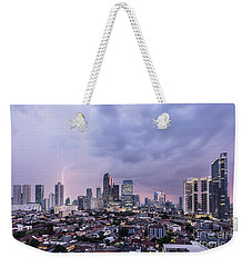 Stunning Sunset Over Jakarta, Indonesia Capital City Weekender Tote Bag