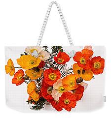 Stunning Vibrant Yellow Orange Poppies  Weekender Tote Bag