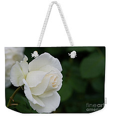 Stunning White Tineke Rose Weekender Tote Bag