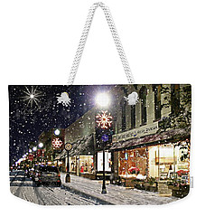 Sturgeon Bay On A Magical Night Weekender Tote Bag by Albert For Door County Social