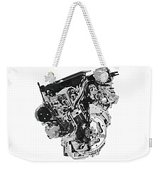 Stylized Cross Section Of Buick Lacrosse V6 Engine Art Print Weekender Tote Bag