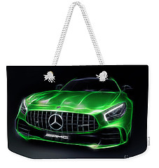 Stylized Illustration 2017 Mercedes Amg Gt R Coupe Sports Car Weekender Tote Bag