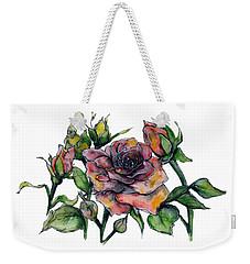Stylized Roses Weekender Tote Bag