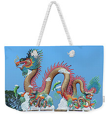 Suan Sawan Golden Dancing Dragon Dthns0147 Weekender Tote Bag