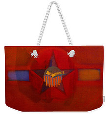 Weekender Tote Bag featuring the painting Sub Decal by Charles Stuart