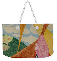 Weekender Tote Bag featuring the drawing Subteranian  by Rod Ismay