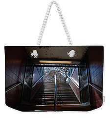Weekender Tote Bag featuring the photograph Subway Stairs To Freedom by Rob Hans