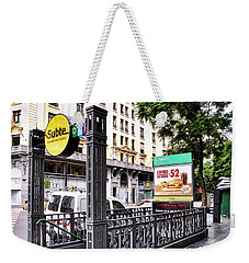 Subway Station Entrance In Buenos Aires Weekender Tote Bag