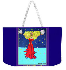 Weekender Tote Bag featuring the painting Successful Singer. by Don Pedro De Gracia