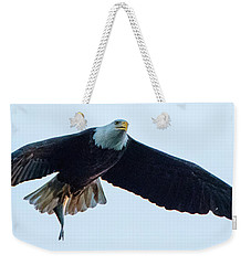 Successful Bald Eagle Panoramic Weekender Tote Bag by Jeff at JSJ Photography