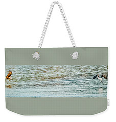 Weekender Tote Bag featuring the photograph Successful Dynamic Duo Panoramic by Jeff at JSJ Photography