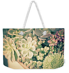 Weekender Tote Bag featuring the photograph Succulent Garden by Ana V Ramirez