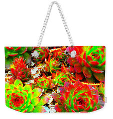 Succulent Hens And Chickens Weekender Tote Bag