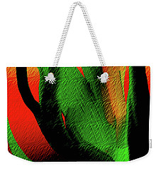Weekender Tote Bag featuring the digital art Succulents by Asok Mukhopadhyay