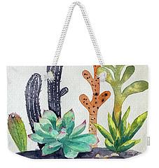 Succulents Desert Weekender Tote Bag