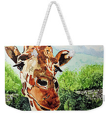 Weekender Tote Bag featuring the painting Such A Sweet Face by Tom Riggs