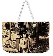 Weekender Tote Bag featuring the photograph Sucua Kids 895 by Al Bourassa
