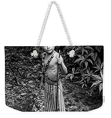 Weekender Tote Bag featuring the photograph Sucua Kids 898 by Al Bourassa