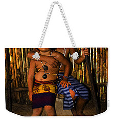 Weekender Tote Bag featuring the photograph Sucua Kids 901 by Al Bourassa
