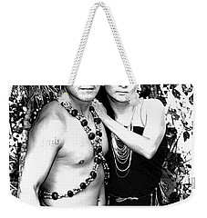 Weekender Tote Bag featuring the photograph Sucua Shaman And Spouse by Al Bourassa