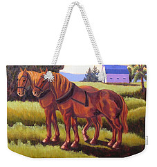 Suffolk Punch Day Is Done Weekender Tote Bag
