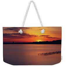 Weekender Tote Bag featuring the photograph Sugar Beach Sunrise by Rachel Cohen