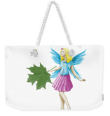Sugar Maple Tree Fairy Holding A Leaf Weekender Tote Bag