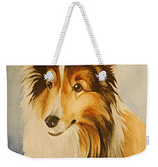Weekender Tote Bag featuring the painting Sugar by Marilyn Jacobson