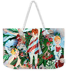 Sugar Plum Fairies Weekender Tote Bag by Mindy Newman