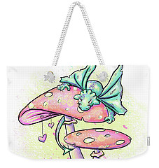 Weekender Tote Bag featuring the digital art Sugar Puff The Dragon by Lizzy Love