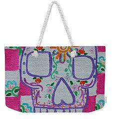 Sugar Skull Weekender Tote Bag by Amy Gallagher