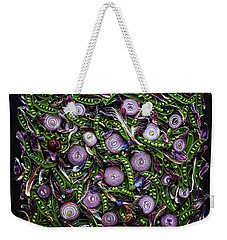 Sugar Snap Peas And Red Onion Mix Weekender Tote Bag