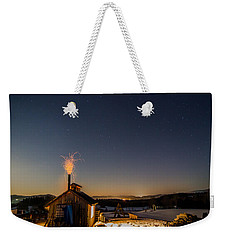 Sugaring View With Stars Weekender Tote Bag