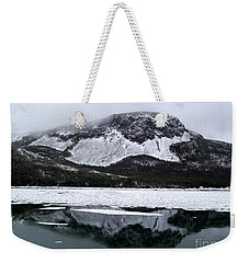 Sugarloaf Hill Reflections In Winter Weekender Tote Bag by Barbara Griffin